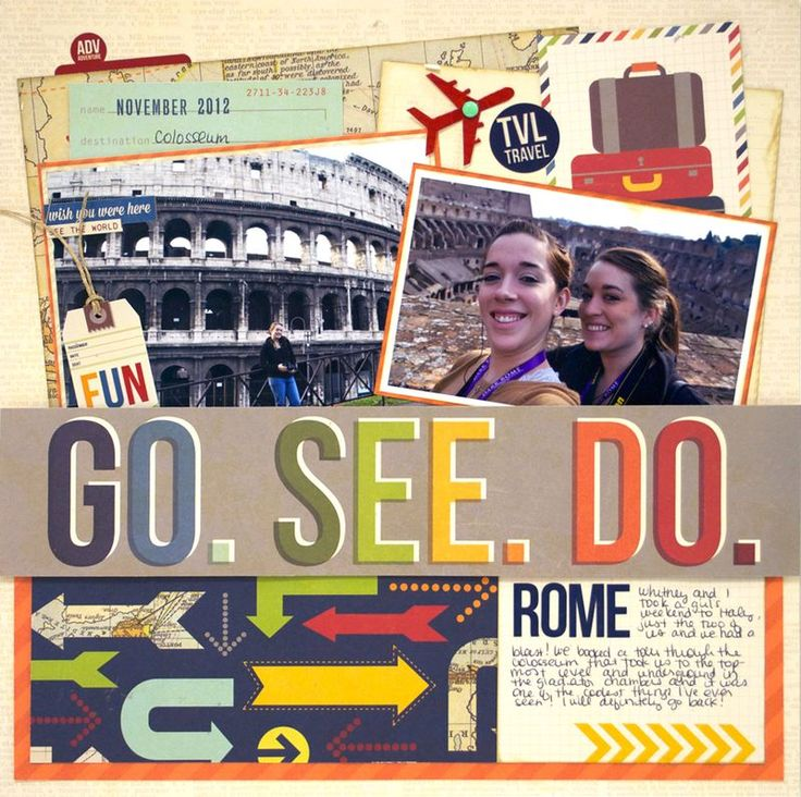 #papercraft #scrapbook #layout. SS-Urban Travel