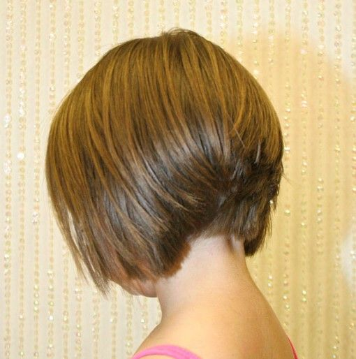 back+view+of+short+angled+bob+haircuts | Back View of ...