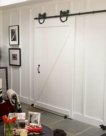 LOVE this door and the panelled walls!  YUM.