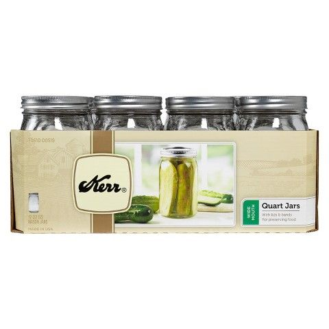 Kerr 1 Quart (32 oz.) Wide Mouth Mason Jar - Set of 12
