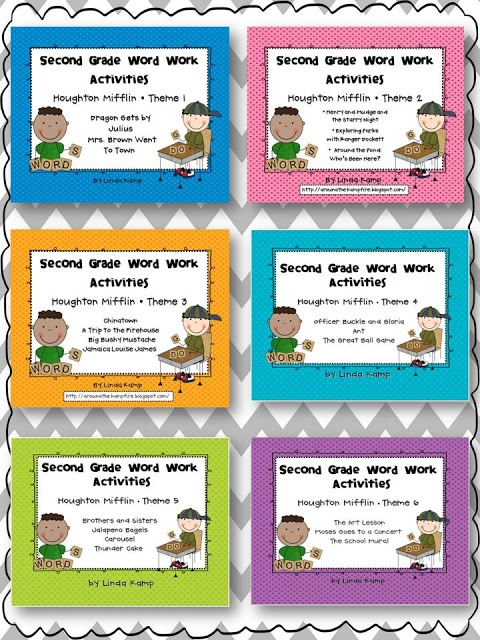 Houghton Mifflin Reading Second Grade Themes 1-6 word work resources!