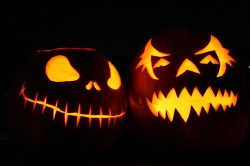 Halloween carved pumkins