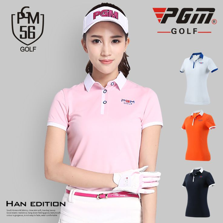 PGM 2017 Women golf clothes T-shirt lady golf apparel quick-dry short-sleeve shirts 6 colors summer uniform brightd esign