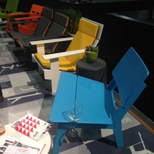 Display Of Modern Outdoor Lounge Furniture And Chairs At Dwell On Design  Tradeshow. All Pieces