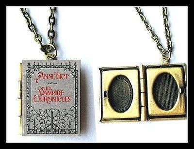Anne Rice Vampire Chronicles book LOCKET necklace interview with vampire Lestat…