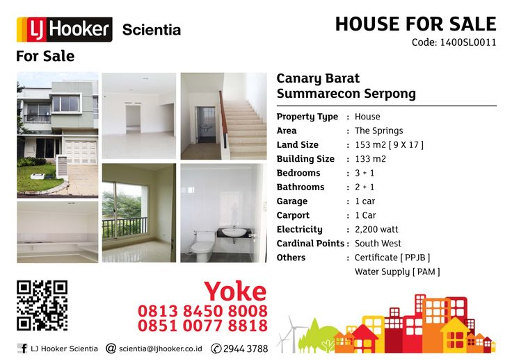FOR SALE: Canary Barat @ The Springs, Summarecon Serpong