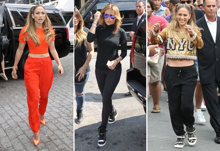 JENNIFER LOPEZ TAKES HER STYLE TO THE STREETS IN NYC