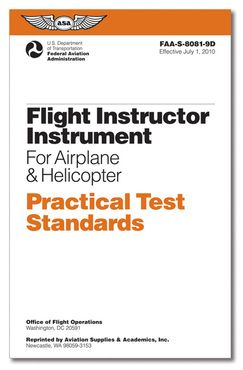 Certified Flight Instructor CFI Instrument for Airplane & Helicopter - Practical Test Standards (PTS)