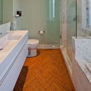 Cork bath flooring