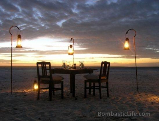 Private Dinner at Mnemba Island in Zanzibar.