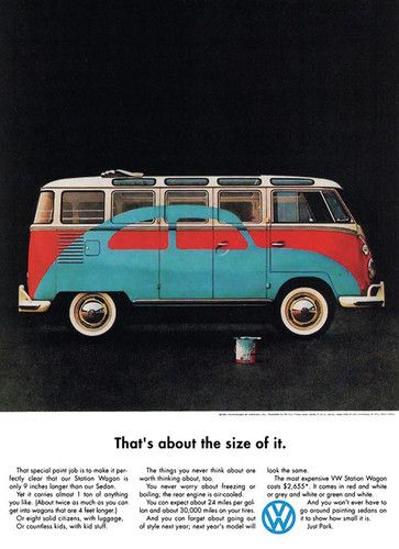 VINTAGE AD FOR VW BUS