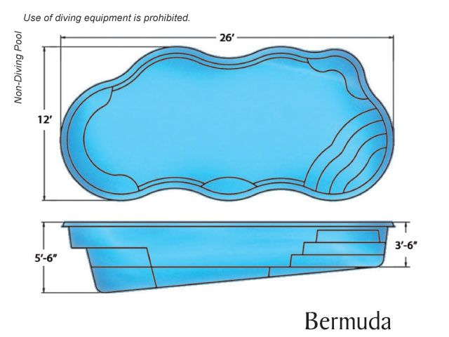 Viking pools bermuda 7 000 gallons 26 495 liters pool - How many litres in a swimming pool ...