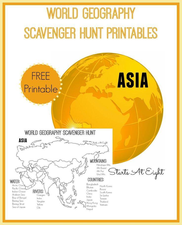 Asian map skills wooksheets