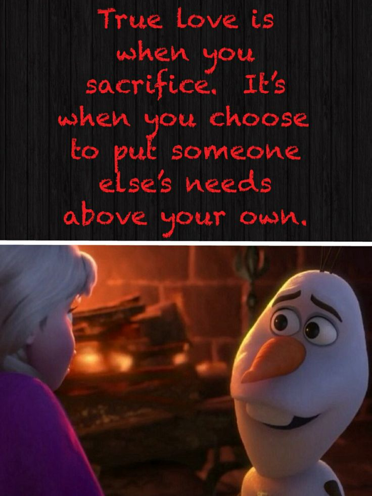 "True Love Quotes Pinterest: True Love From The Movie ""Frozen"""