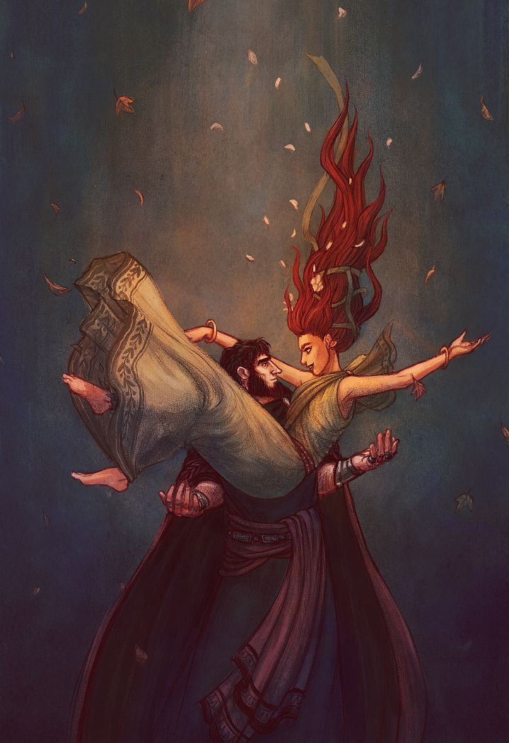 """Persephone and Hades: """"fall"""". Get it? :)"""