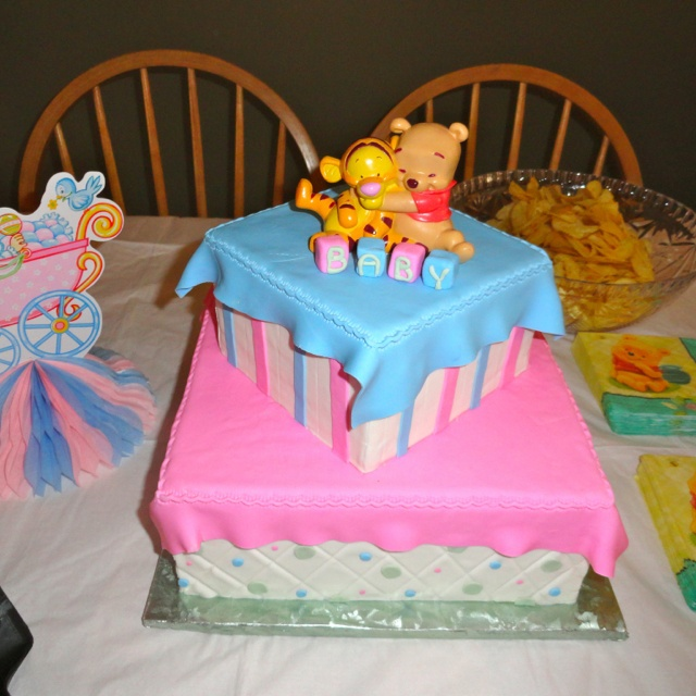 winnie the pooh baby shower cake cakes pinterest
