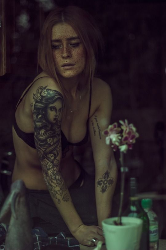 Tattoos in photography by Haris Nukem / Model: Polly Ellens Smith