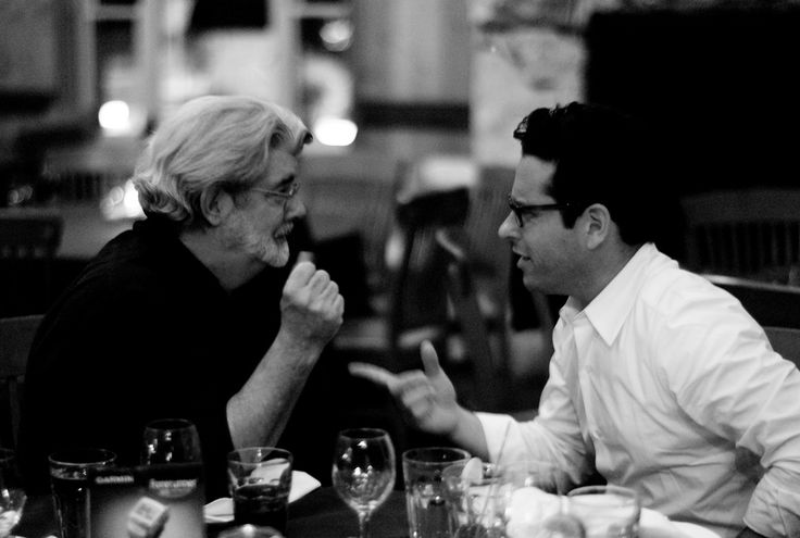 The meeting of two geek legends: George Lucas and J.J. Abrams.