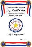 american flag certificate template