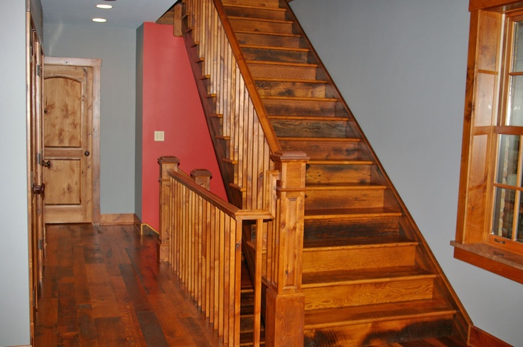 Best Barn Board Oak Stair Treads And Risers Wood Stairs 640 x 480