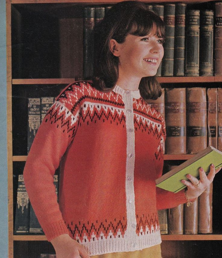 57 best Red Coloured Wool Vintage Knitting Patterns images on ...