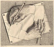 M.C. Escher - Drawing Hands....This would make a great tattoo