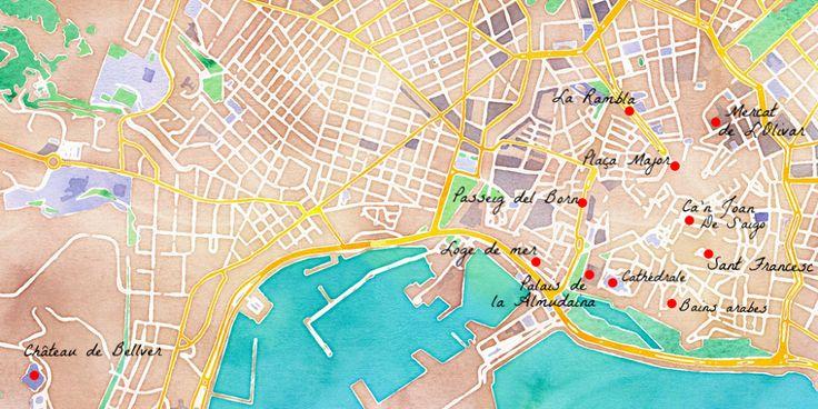 carte de la ville de Palma de Majorque