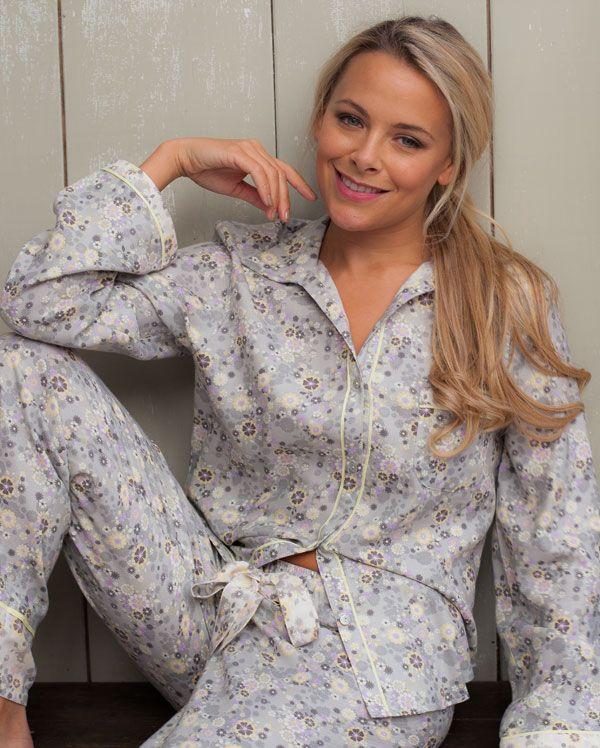 Katie Brushed Floral Printed Pyjamas