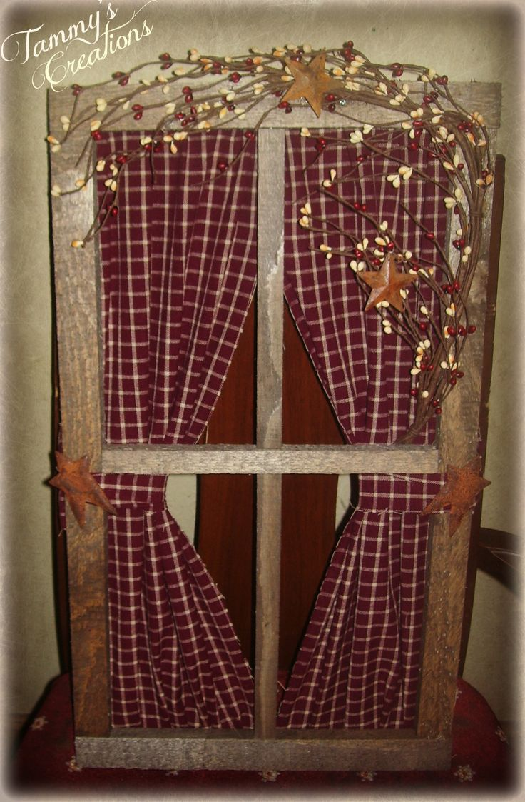 Primitive Window https://www.facebook.com/pages/Primitive ...  Primitive Window Frame Decor