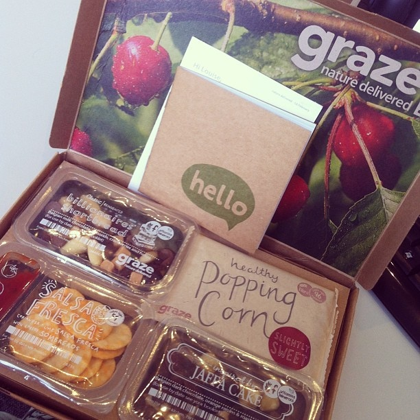 Graze box snacks. Make great gifts too!  If you want your first yummy box FREE do quote 9XMMRTV and without any delay your box will arrive at your doorstep!  Happy munching! :-)
