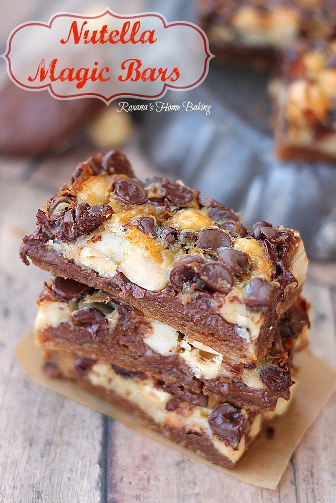 Nutella Magic Bars Dinners Dishes And Desserts