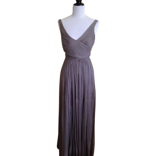 Pre-owned J.crew Gray Graphite Nwt Heidi 8 Petite Graphite Gray Dress ($161) ❤ liked on Polyvore featuring dresses, gray graphite, petite, petite long dresses, long fitted dresses, gray dress, long gray dress and long grey dress