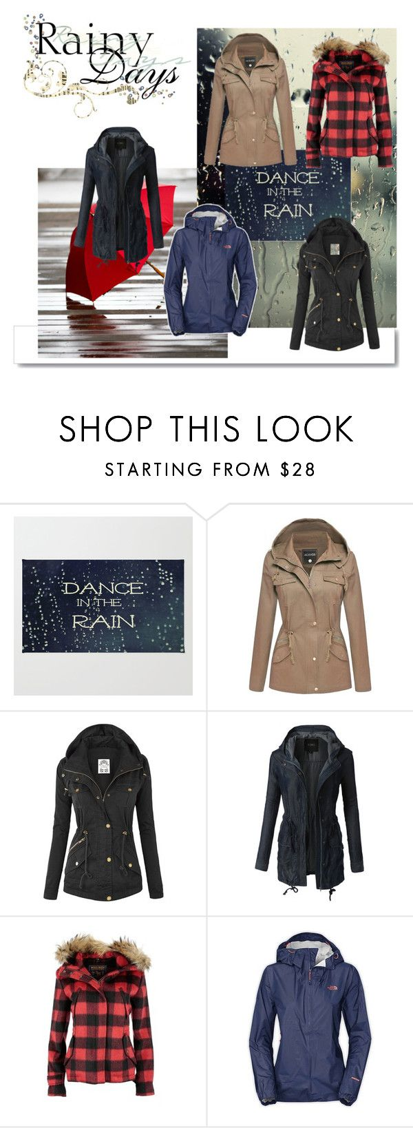 Anorak by elizzy91 on Polyvore featuring Mode, Woolrich, LE3NO, The North Face and White Label