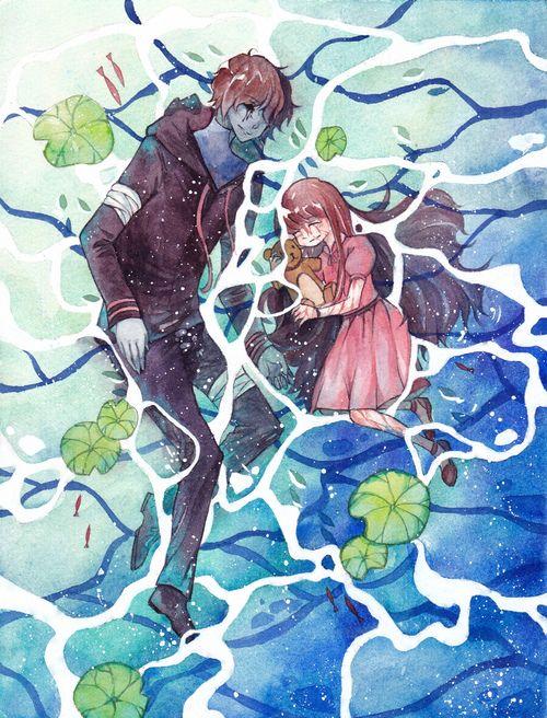 EJ and Sally in a pond | Creepypasta/Marble Hornets | Creepypasta