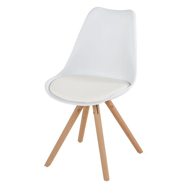 SET OF 2 Minsk Cushioned Dining Chair - White