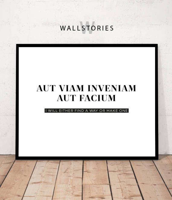 Latin Print, Latin Quote, Office Decor, Latin Motivational