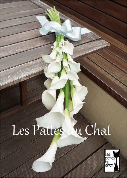 ウェディング フラワー セレクト ショップ ~レ・パデュシャ~(Wedding Flower Select shop ~Les Pattes du Chat~)... カラーのアームブーケ