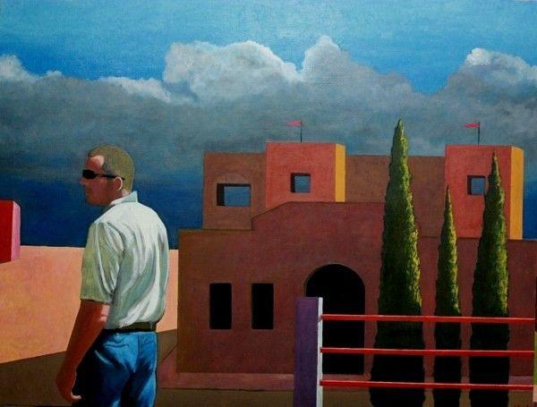 Fernando Puente. Óleo sobre lienzo. La espera.