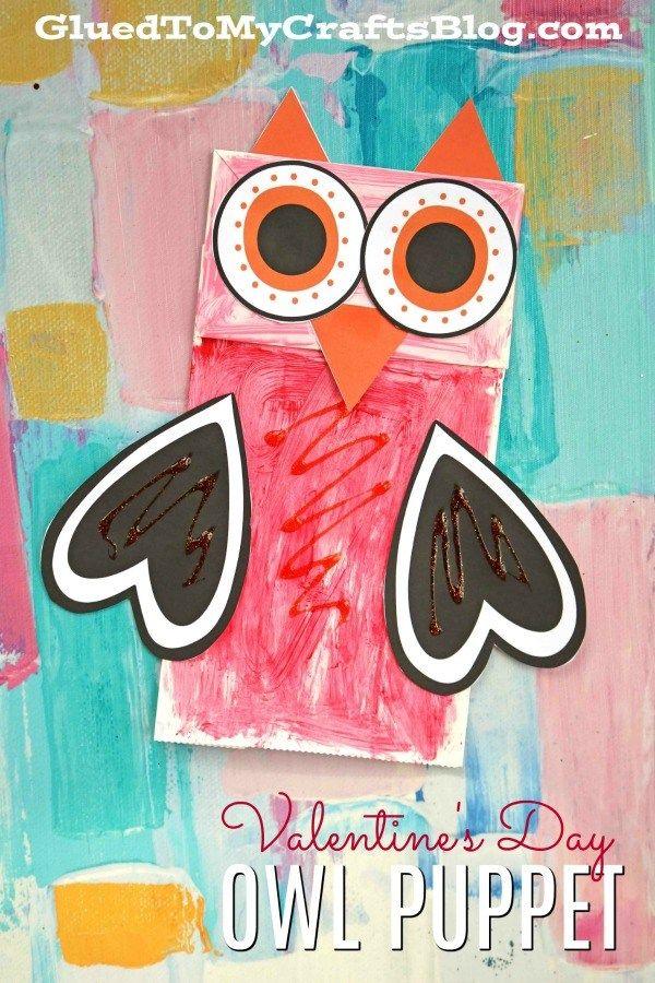 Paper Bag Valentine Owl Kid Craft Pinterest Free Printable