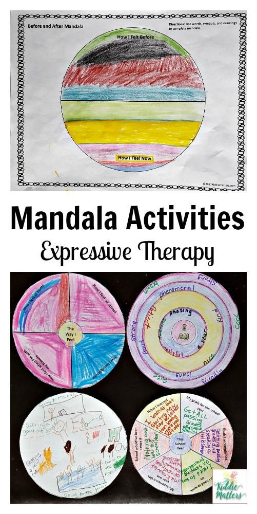 Children learn valuable social emotional skills with these mandala activities.  Kids can use these mandalas to gain insight into their thoughts and feelings and also as a mindfulness activity.