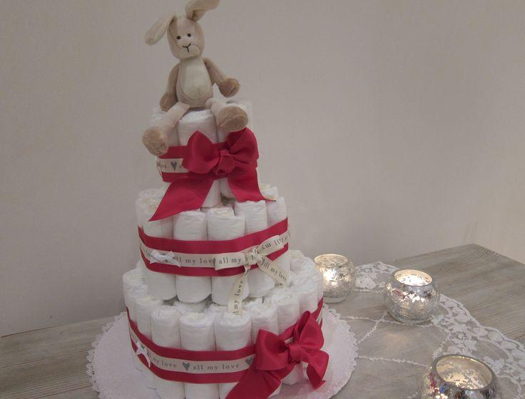 Blöjtårta eller Diapercake!