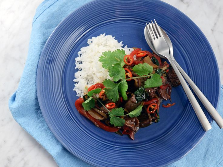 Chilistekt flankstek med thaibasilika | Recept från Köket.se