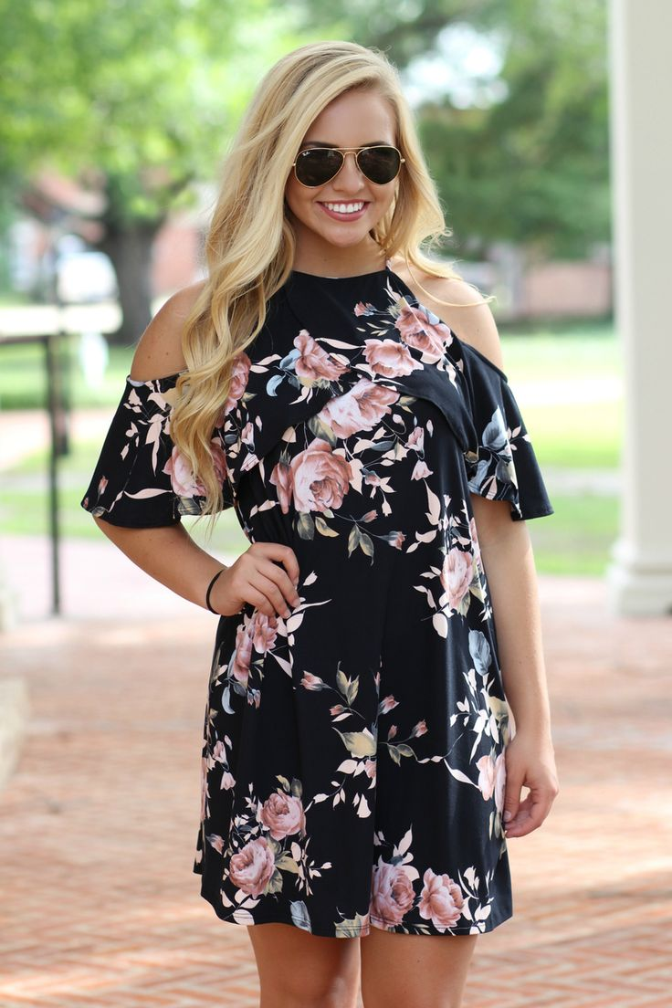Lavish Boutique - Right Move Cold Shoulder Dress: Black , $38.99 (http://lavishboutique.com/right-move-cold-shoulder-dress-black/)