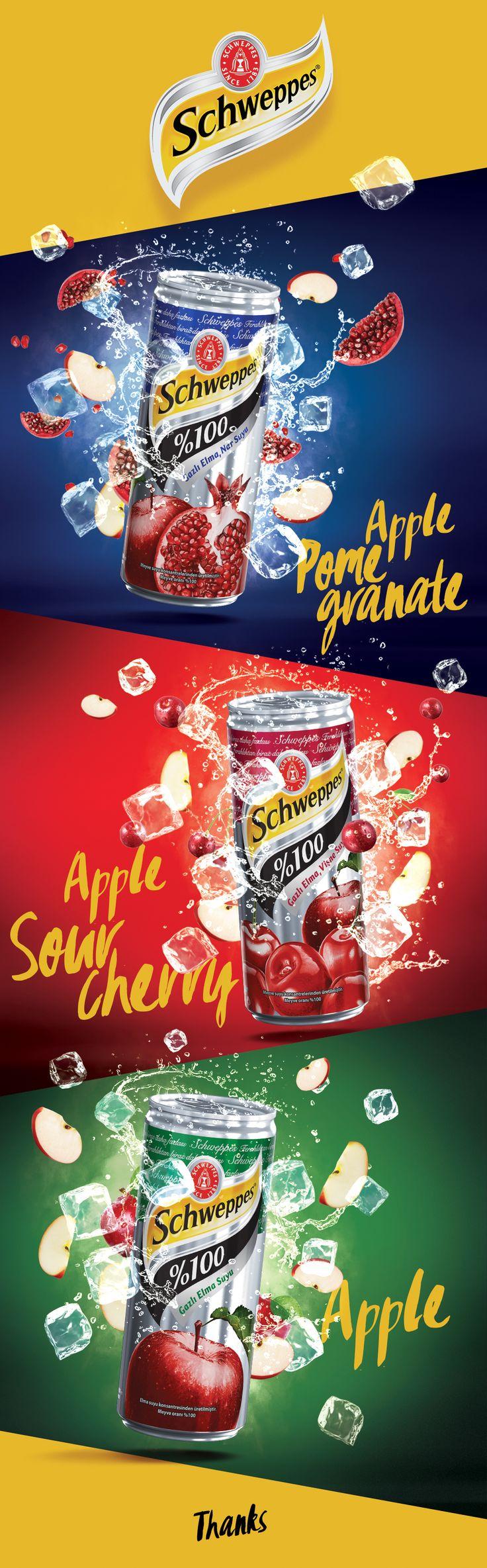 Schweppes Sparkling 100% Fruit Juice on Behance
