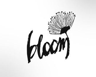 Really like the way they added the flower into the BLOOM word, This font isn't…