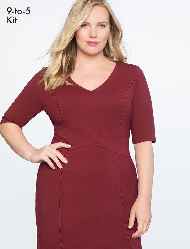 9-to-5 Stretch Work Dress | Women\'s Plus Size Dresses in ...