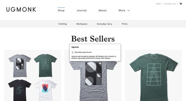 Ugmonk http://shopify.cool/apparel/ugmonk-2/?utm_campaign=coschedule&utm_source=pinterest&utm_medium=Shopify%20Cool&utm_content=Ugmonk