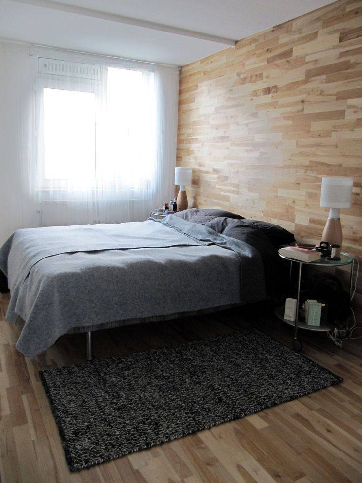 my own scandinavian style bedroom renovation.  Enough ash/birch engineered wood flooring left to cover part of wall as a headboard. Very pleased with result.