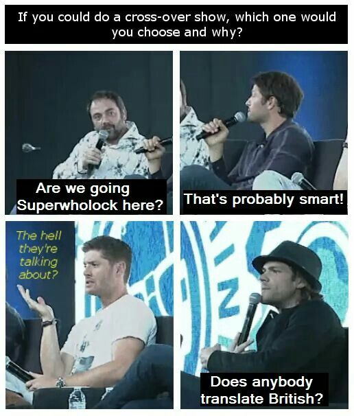 i love that Mark and Misha just know, and J2 are just as clueless as Sam and Dean. it would be the best Meta episode ever!.