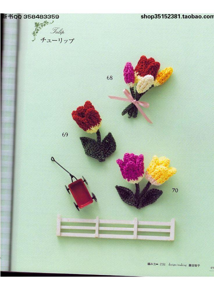 Mejores 82 imágenes de Broches en Pinterest   Croché de flores ...